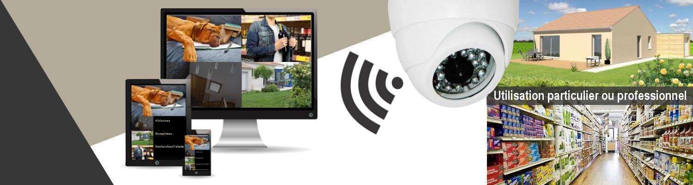 Systeme de videosurveillance particulier et pro connecté