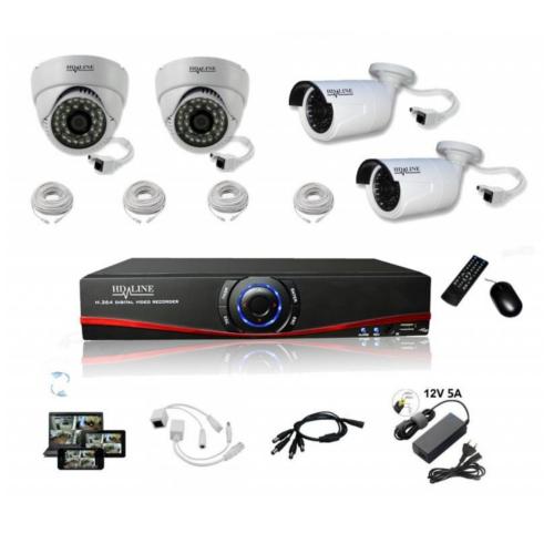 Kit 4 Caméras surveillances IP1150DC IP1250DC bfsat.fr