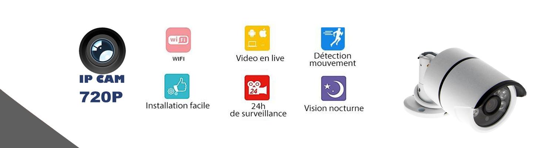 Caractéristiques des caméras IP sans fil wireless (BFS-14) BFSAT