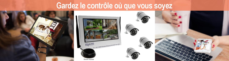 Utilisation kit caméra surveillance IP wireless bfsat