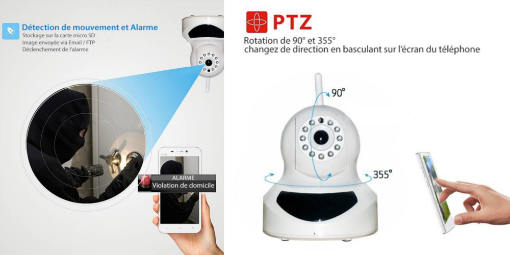 Caméra connectée PTZ13 dissuasif alarme intégrée bfsat.fr
