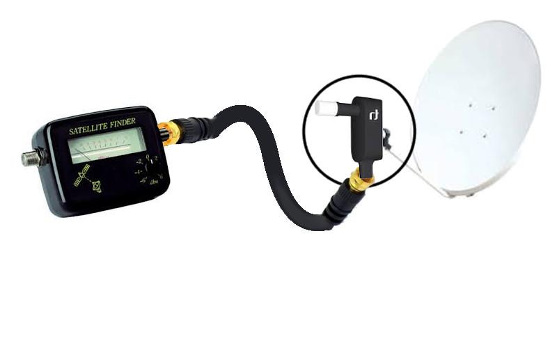 Câble coaxial pour satfinder et réglage de parabole