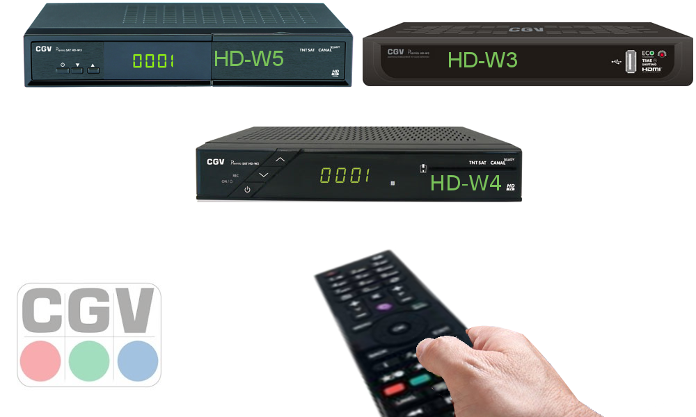 Compatibilité télécommande pour décodeur satellite CGV - BFSAT