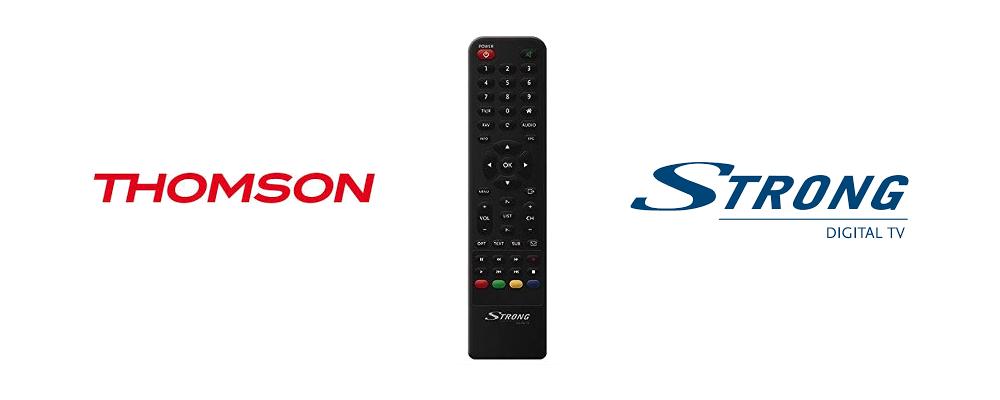 Télécommande compatible décodeur satellite Thomson et Strong