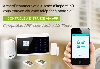 Kit alarme maison systeme sans fil compatible ligne fixe for Application construction maison android