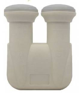 Monobloc QUAD LNB 0.1dB HD Ready 6° astra19.2° hotbird 13° DOUBLE/ 4 OUTPUTS