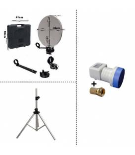 Tripod + Kit camping with LNB Single