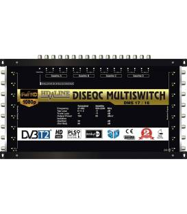 HD-LINE PRO MULTISWITCH 17/16 - 4SAT - 1TER / 16RECEIVER