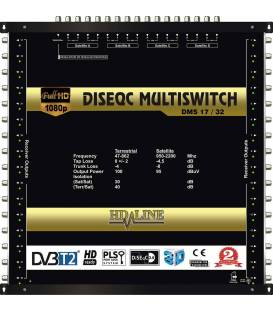 HD-LINE PRO MULTISWITCH 17/32 - 4SAT - 1TER / 32RECEIVER