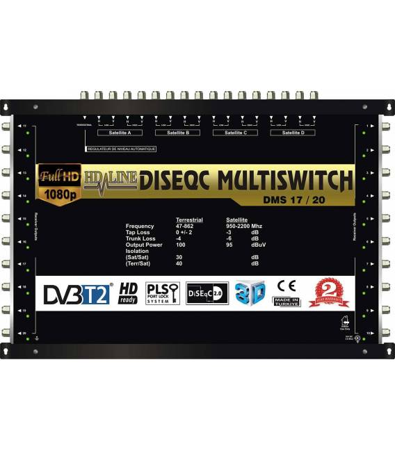 HD-LINE PRO MULTISWITCH 17/20 - 4SAT - 1TER / 20RECEIVER