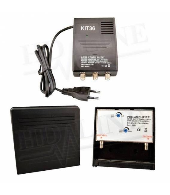 HD-LINE HD-KIT36 D'AMPLIFICATION ANTENNA UHF VHF FM Amplificator tnt