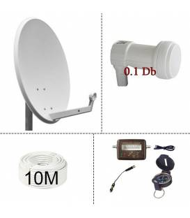 KIT SATELLITE DISH 60cm + kit satfinder + cable 10m + LNB