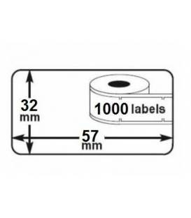 2 rolls seiko DYMO 11354 compatible labels writer roll 57mm x 32mm