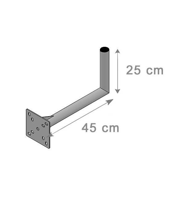 SATELLITE ANTENNA DISH BRACKET MOUNT 25X45Cm
