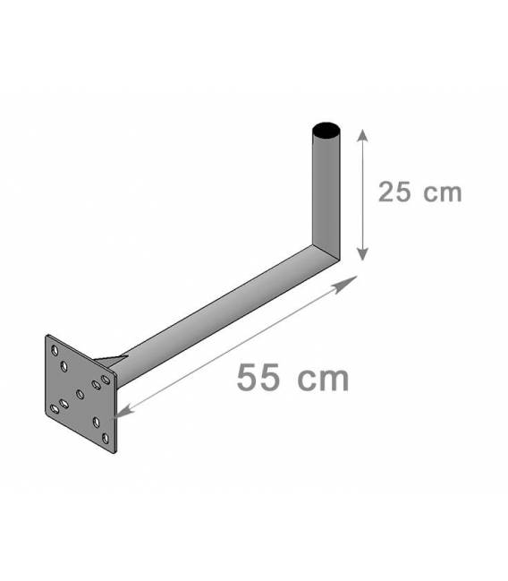 SATELLITE ANTENNA DISH BRACKET MOUNT 25X55Cm