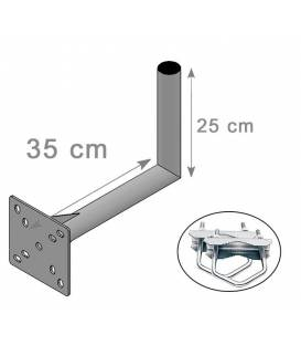 SATELLITE ANTENNA DISH BRACKET MOUNT KIT FOR BALCONY L 25X35cm