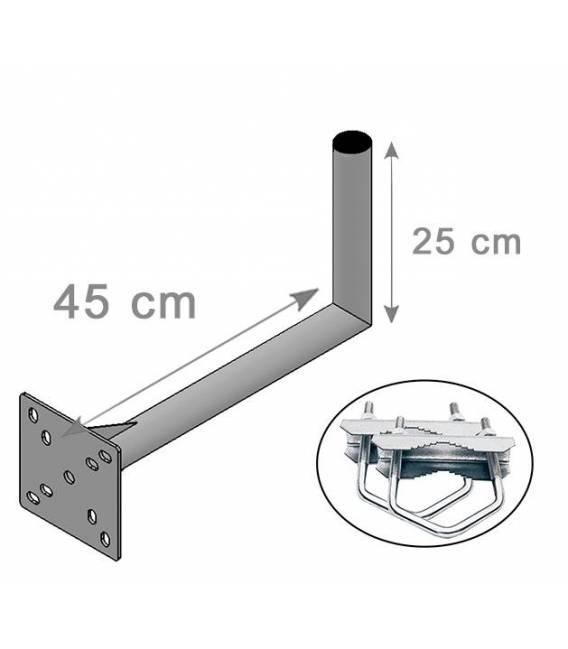 SATELLITE ANTENNA DISH BRACKET MOUNT KIT FOR BALCONY 25X45cm