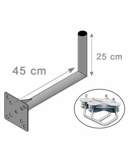 SATELLITE ANTENNA DISH BRACKET MOUNT KIT FOR BALCONY 25X45cm