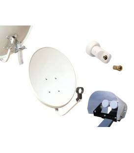 Kit HD-LINE Basic Satellite Dish 70cm Steel + LNB Single + Weather Protection + 1 connector