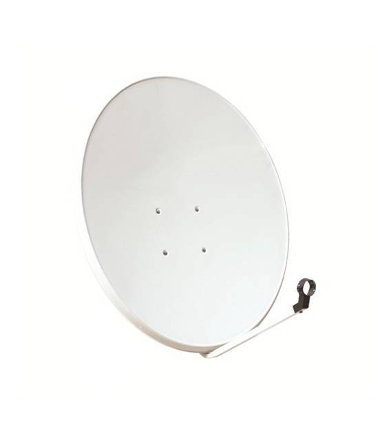 Kit HD-LINE Basic Satellite Dish 80cm Steel + LNB Single + Weather Protection + 1 connectors
