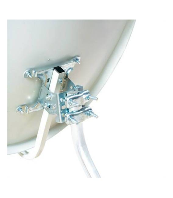 Kit HD-LINE Basic Satellite Dish 80cm Steel + LNB Twin + Weather Protection + 2 connectors