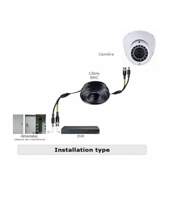 Kit Security Camera AHD DVR 8 Output 8 Cameras DZ-450 AHD