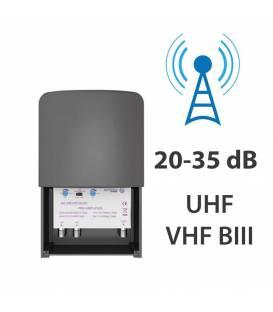 AXITRONIC PRE AMPLIFICATOR ANTENNA EXT. 20-35dB ajustableUHF / VHF BIII