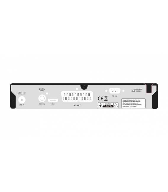 HD-LINE HD-250, USB-Stick 8Go Satellite Receiver HD SCART FTA back side