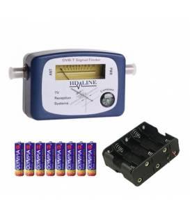 HD-LINE DVB-T + BATTERIES FINDER Antenna Signal meter TERRESTRIAL TV VHF UHF