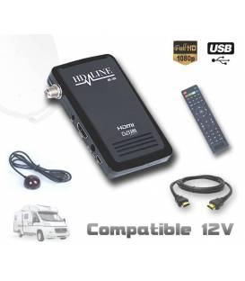 HD-LINE HD-100 Mini recepteur satellite HD 220V 12V Ideal camping