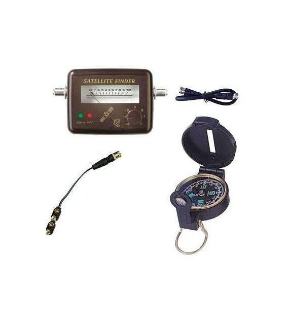 KIT SATFINDER POINTEUR SATELLITE + Boussole + Cable