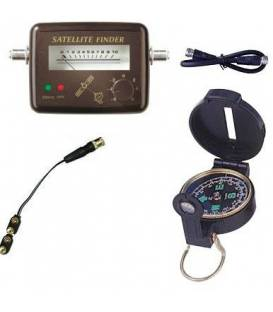 KIT SATFINDER Signal Strengh Meter + Compass + Cable