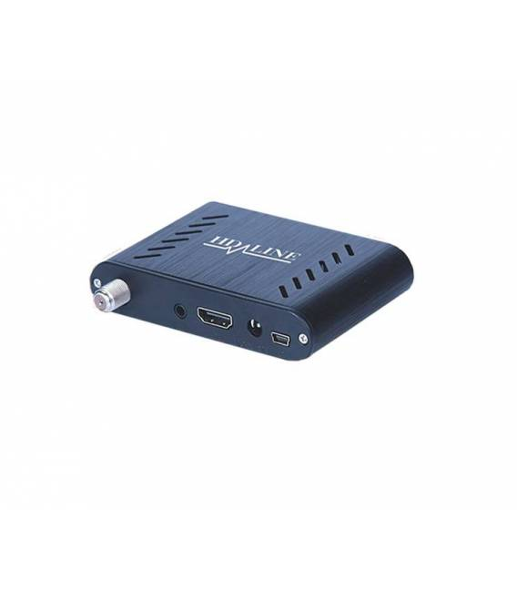 HD-LINE HD-120 Mini demodulateur satellite FTA coque aluminium 220/12V HDMI USB Deport IR
