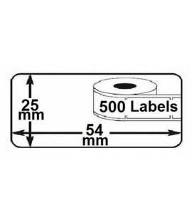 Lot 2 rouleaux etiquettes seiko DYMO 11352 compatibles labels writer roll 54mm x 25mm