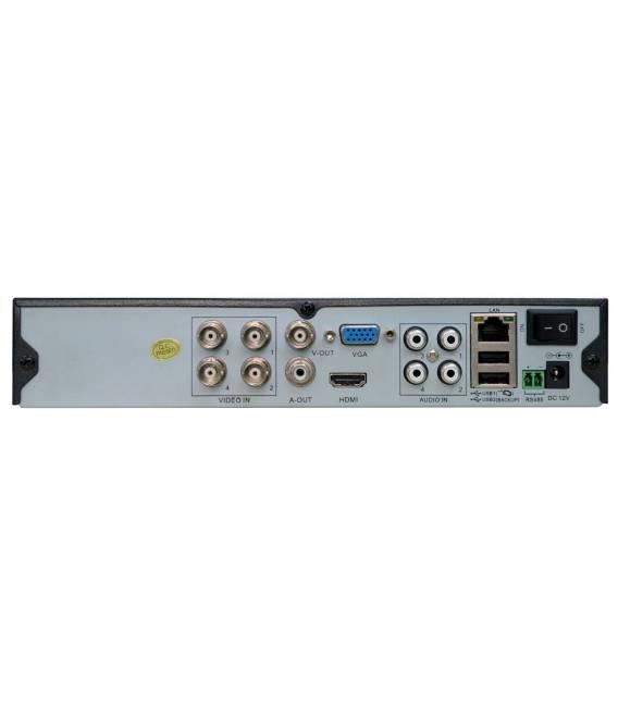Kit videosurveillance DVR 4HQ + 2 Cameras WP-500W + 2x 20m cable BNC blanc + 1 adaptateur 4en1 + 1 alimentation 5A