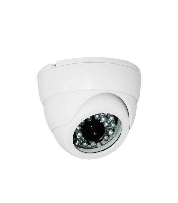 Kit videosurveillance DVR 4 sorties + 4 Cameras domes PL-50B + 4x 20m cable BNC blanc + 1 adaptateur 4en1 + 1 alimentation 5A
