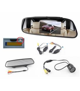 Mini Car Rear view Camera + Miror Monitor - Wireless - 120° - Waterproof