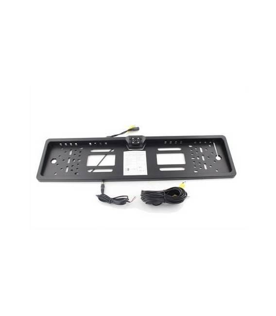 Caméra support plaque d'immatriculation + Rétroviseur Central - SANS FIL - Fixation avant / arrière - Angle 170° - Waterproof