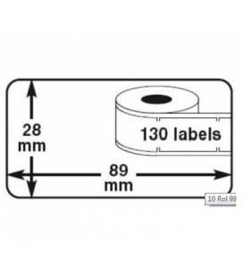 Lot 4 rouleaux etiquettes seiko DYMO 99010 compatibles labels writer rolll 28mm X 89mm