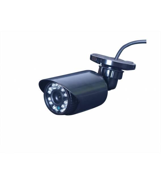 Kit videosurveillance DVR 8 sorties + 8 Cameras WP-500W + 8x 20m cable BNC blanc + 1 adaptateur 8en1 + 1 alimentation 5A