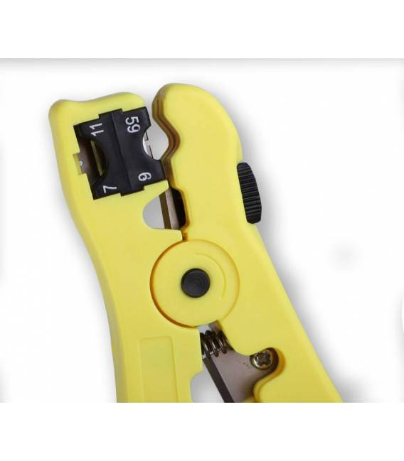 DENRG11-7 Coaxial Cable Stripper Coax Stripping Tool for RG59/6/7/11