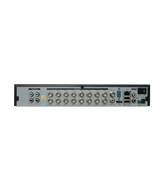HD-LINE Recorder DVR 16 Outputs Hybrid AHD / IP - H.264 Security Cameras AHD 960P / IP 1080P