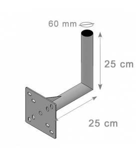 Satellite Dish Wall Mount Bracket L Arm 25x25 cm Diameter 60mm
