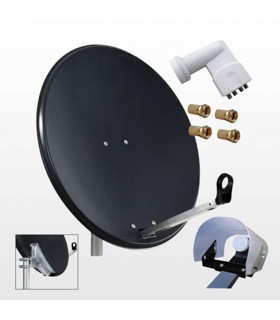 Kit Quad HD-LINE PRO satellite installation for 4 DVB-S bfsat.fr