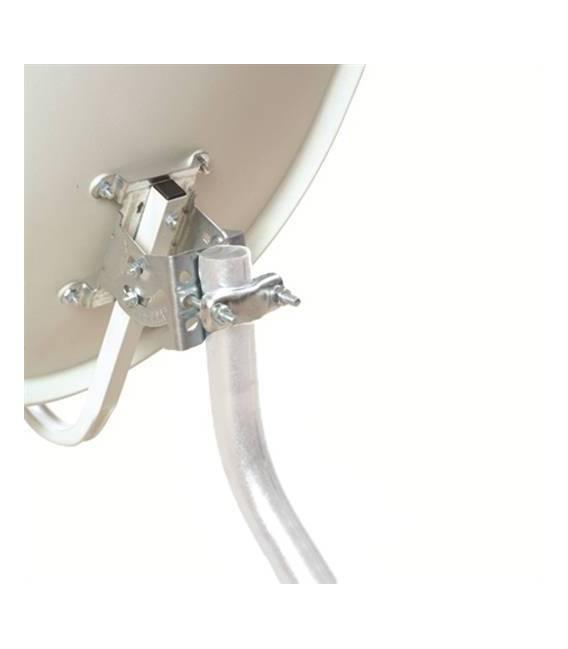 Kit HD-LINE PRO Parabole 60cm acier anthracite + LNB Single + Protection anti-pluie + 1 connecteur