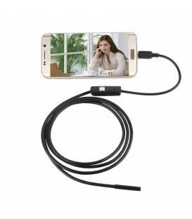 Endoscope USB Android et PC - caméra étanche 7 mm à lentille - 6 LED de qualité supérieure
