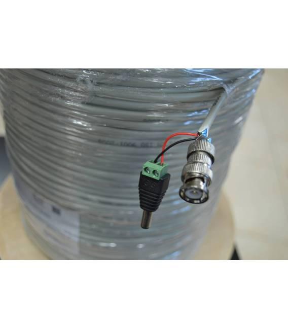 RG59 CU CCTV + POWER cable 300m Coaxial pour camera