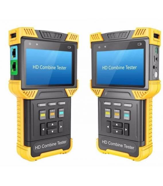 """HD-LINE HD-162 Mesureur de caméra Ecran 4"""" TFT Testeur 3-en-1 IP / AHD / Analogique"""
