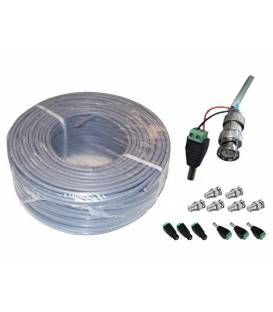 RG59 CU CCTV + POWER cable 100m Coaxial pour camera