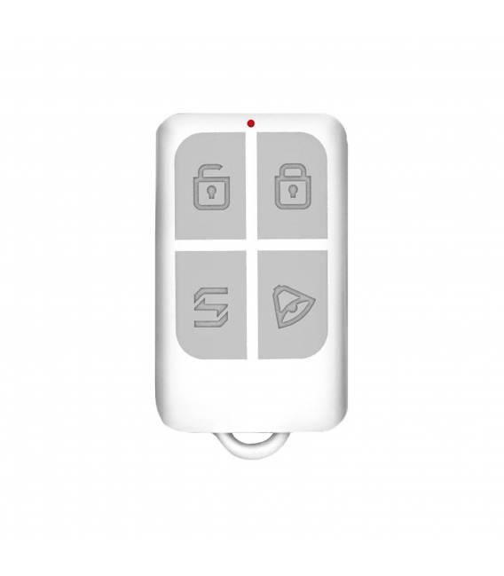 HD-LINE AL-10 Kit alarme sans fil Compatible téléphone fixe FT ADSL + Détecteurs porte / présence avec télécommandes